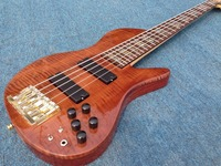 Abalone inlay Palisander body Original Fodera bridge Neck Thru Body 5strings bass guitar active pickups ,Solid flamed maple top