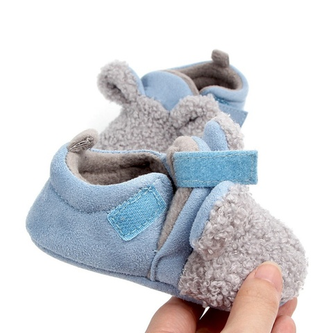 Autumn Winter Baby Cotton Shoes Baby Girls Boys Child Warm Non-slip Home Shoes Toddler Shoes First Walkers Shoes 0-18M Islamabad