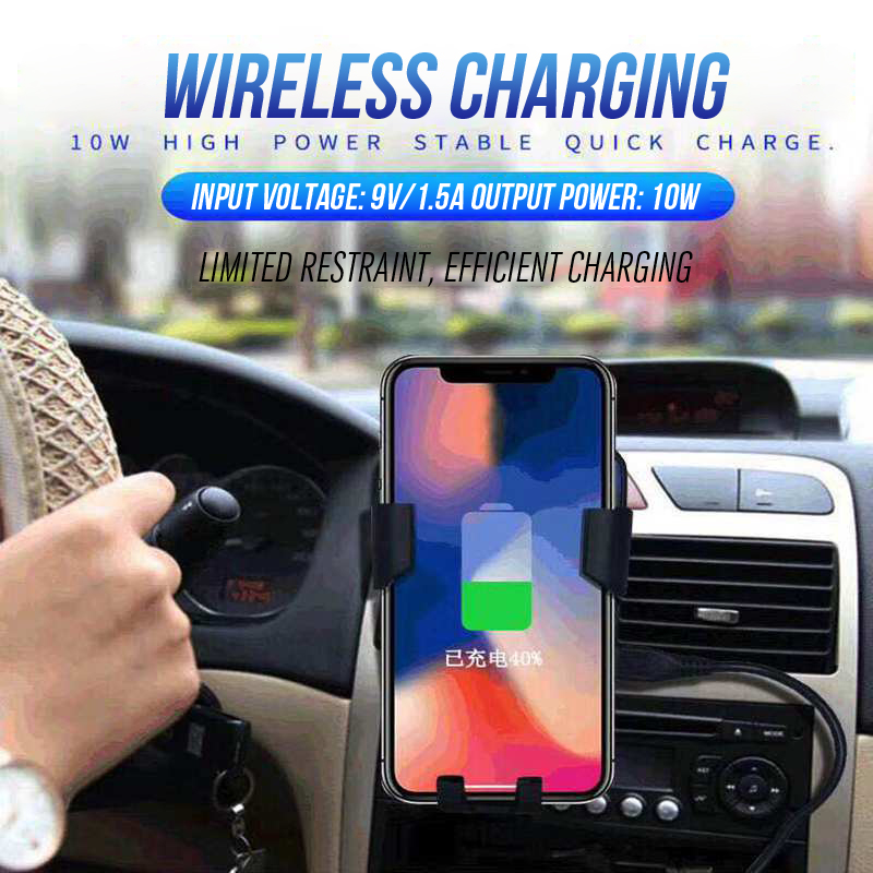 ShunGe Car Charger for Samsung Note 9 S9 S8 s7 Fast Wireless Charging Car Phone Holder for iPhone XS Max X XR 8 9