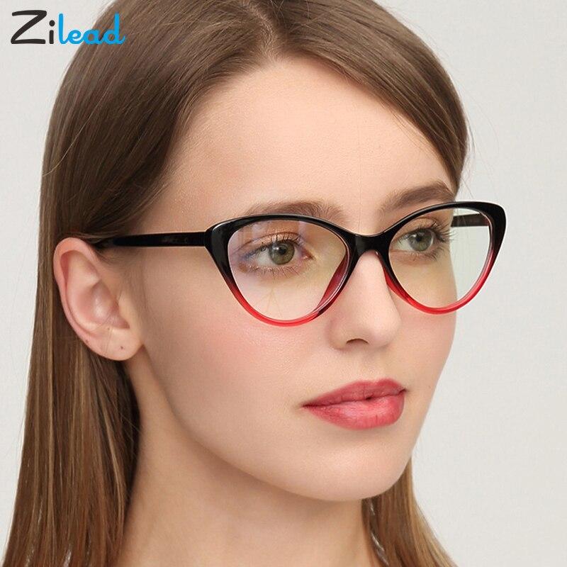 Zilead Cat Eye European And American Men Women Retro Individual Plain Glasses Anti Fatigue Unbreakable Classical Reading Glasses