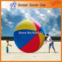 Бесплатная доставка! Бесплатная насос! 2 м открытые спортивные игры Красочные Надувной Пляжный Мяч гигантская игрушка мяч для детей