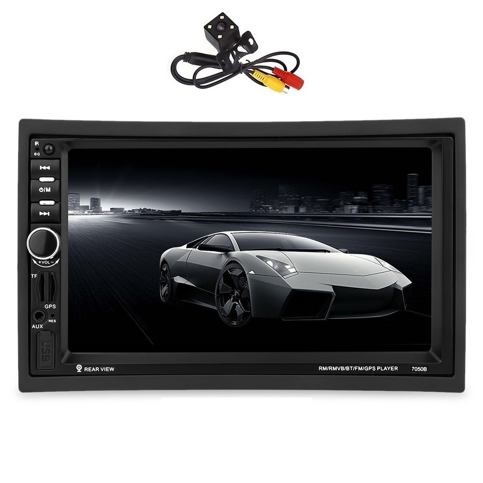 7050B 6.5 inch 2 Din Car MP4 MP5 Player Video Player DVD 2 Din Rear View Camera Bluetooth Touch Screen FM Radio Remote Control 9 inch car headrest mount dvd player digital multimedia player hdmi 800 x 480 lcd screen audio video usb speaker remote control