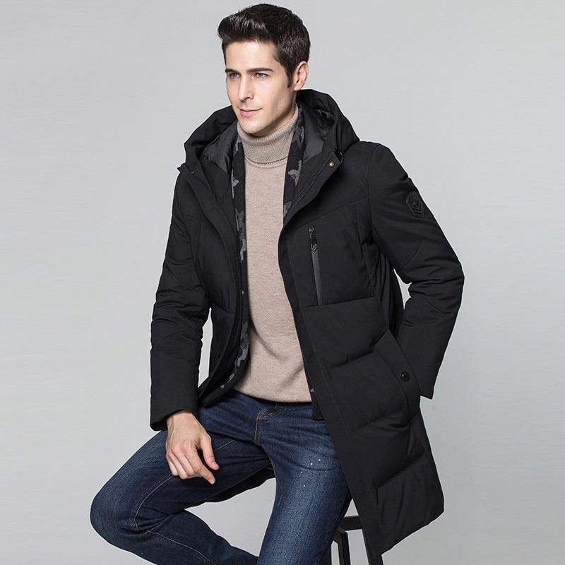 Longue Manteau À De Duvet Parka Capuchon Coréenne Pour Black 2018 T477 Veste  D hiver Épais Blanc Parkas Hommes Vêtements Canard Z0q7wPq 133a194aff8b