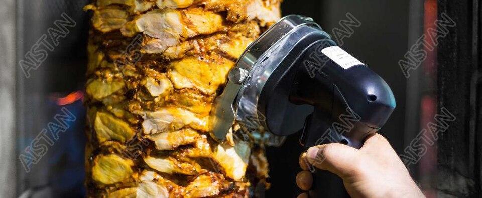 KS100E Commercial Doner Kebab Knife Slicer, Kebab Shawarma Gyros Cutter Stainless Steel Electric 80W/100mm 110V-120V/220V-240V 1