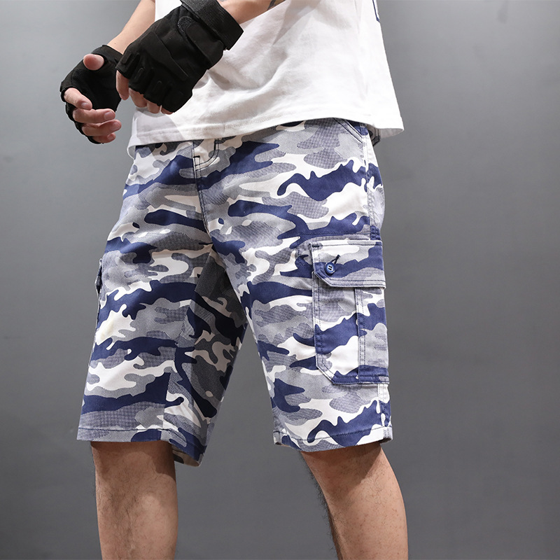wholesale price sale retailer low price Men's Camouflage Shorts Fashion Stretch Breeches Big Size Bermuda Male Camo  Cargo Short Pants Hot Casual 2019 Summer Mens Shorts