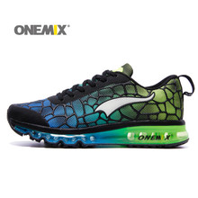 Onemix Hot Sale Men's Running Shoes Woman Beathable Lightweight Boots Outdoor Lace-Up Knit Vamp Sneakers for Running Black Green