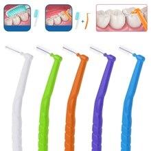 10 шт микро Размер 0,7-1,2 мм межзубная щетка l-образная зубная нить для ухода за полостью рта