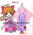 Аниме Card captor sakura Томойо Yichiban Kuji Кимоно Косплей Костюм Lolita Dress на складе индивидуальные любой размер бесплатная доставка