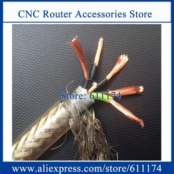 10m High quality 1.5-square meter, 5 core Shielded Cable for cnc machine, spindle, inverter and step motors