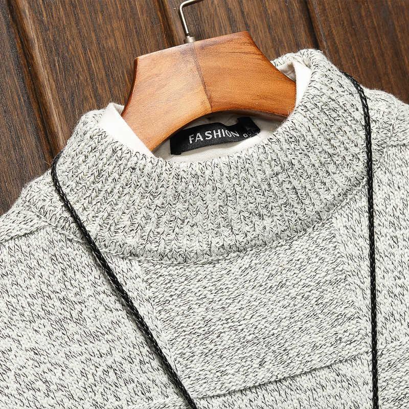 남성용 스웨터 봄 가을 겨울 의류 2020 플러스 오버 사이즈 M-4XL 5XL 6XL 일본 스타일 캐주얼 표준 디자이너 풀오버
