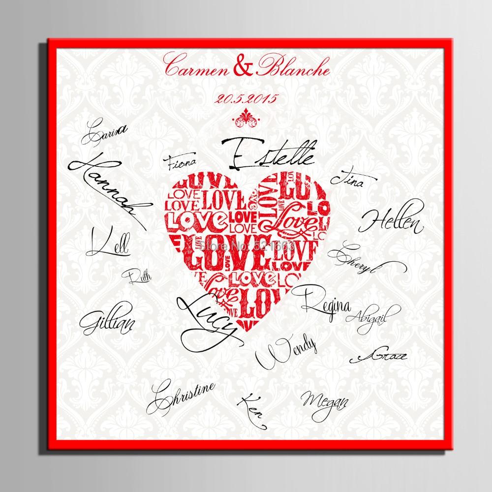 Firma de invitados Regalo de la fiesta de bricolaje Lona de boda - Para fiestas y celebraciones