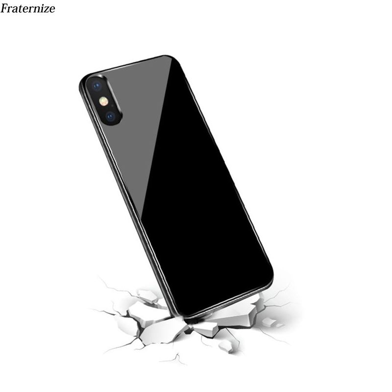 Slim Battery charger Case For iPhone XS Max Tempered glass shockproof power bank Battery Charging Back Cover Cases Capa Funda