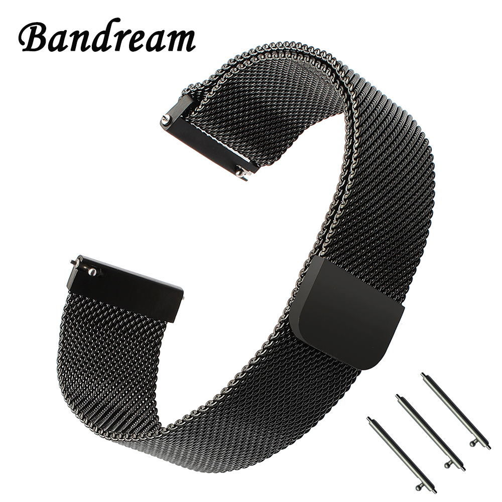 Milanese Loop Watchband for Garmin Forerunner 645 Misfit Vapor Magnet Watch Band Steel Clasp Strap Quick Release Wrist Bracelet stainless steel watch band 26mm for garmin fenix 3 hr butterfly clasp strap wrist loop belt bracelet silver spring bar