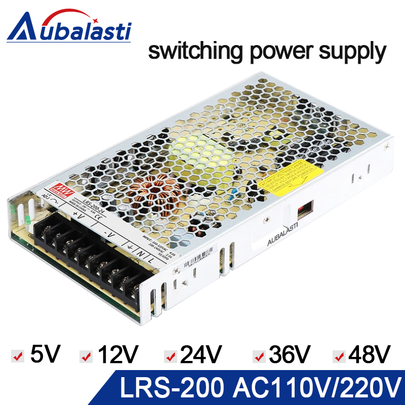 meanwell power supply LRS-200 switching power supply 5V 12V 24V 36V 48V Power Supply use for cnc router engraving machine engraving machine power engraving machine 48v power supply 800w power engraving machine switching power supply engraving machine