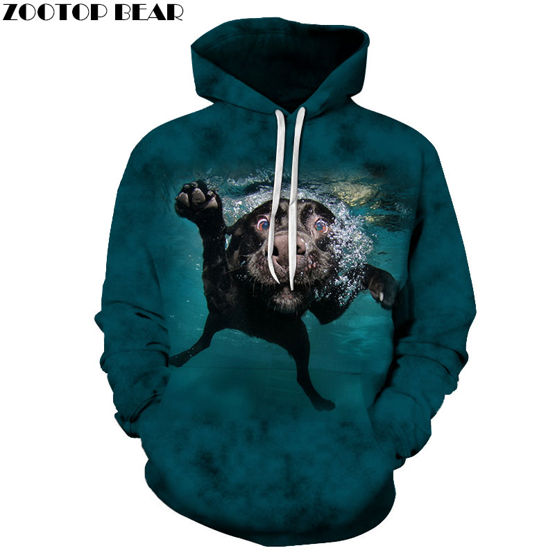 Funny Sweatshirts Men Hoodies Fashion Tracksuits 3D Printing Pullover Animal Hoody Autumn Coat Streetwear Drop Ship ZOOTOP BEAR