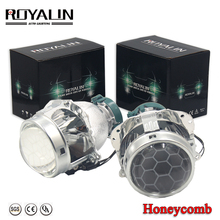 ROYALIN Bi Xenon Projector Headlights Lens D2S For EVOX Hella Retrofit for BMW E39 E60 Audi A6 C5 C6 W211 Passat B6 Skoda Fabia