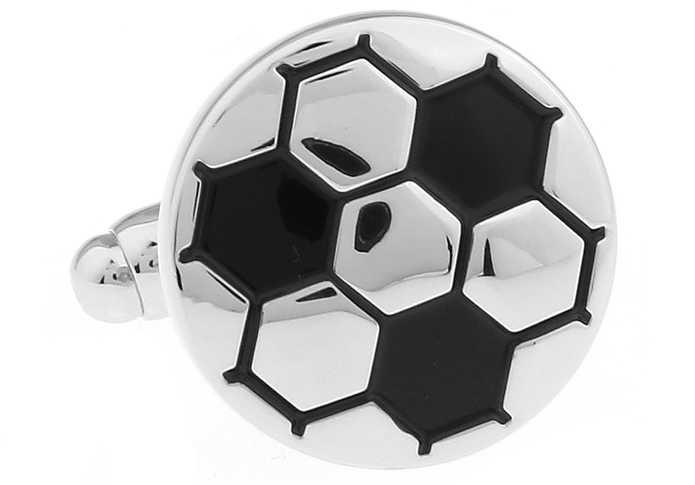 IGame Männer Geschenk Fußball Manschettenknöpfe Großhandel & einzelhandel Schwarz Farbe Kupfer Material Neuheit Sport Design Business Anzug Mithelfer