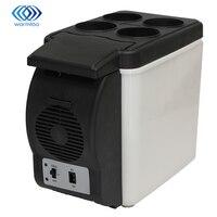 White 6L 12V DC Car Fridge Electric Cool Box Cooler Motor Home Camping Fridge