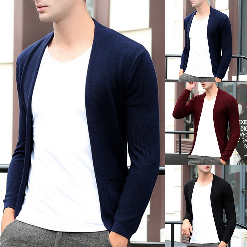 MJARTORIA 2019 Autumn Winter Casual Men's Sweater Handsome Slim Fit Knittwear Pullovers Men Pull Homme