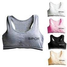 Letter Sports Bra Top Cotton Push Up Padded Bra Fitness Running Underwear Sportswear Female Wireless Sport Tops(China)
