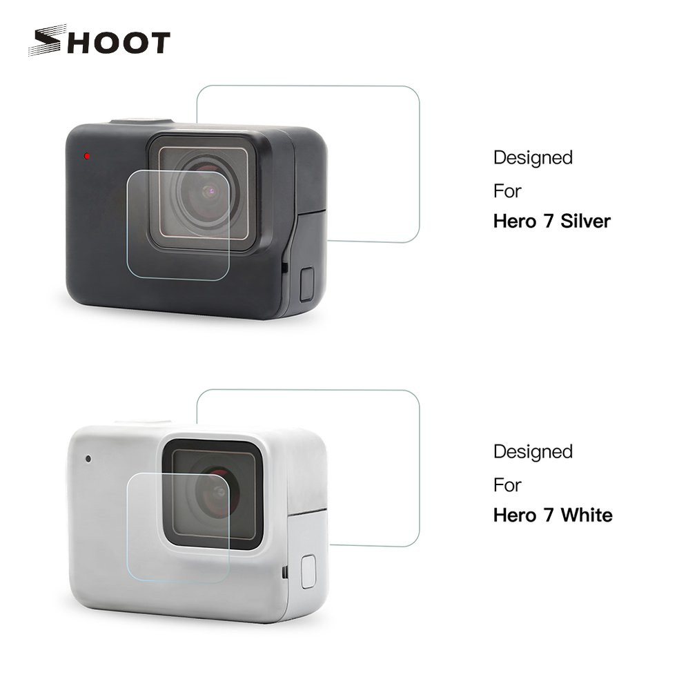 Latest Collection Of Tempered Glass Screen Protector Film Lens Cap Cover For Gopro Hero 7 Silver / White Camera High Quality Utmost In Convenience