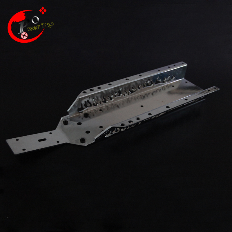 ФОТО King Motor Chorme Baja New fire main chassis For HPI Baja 5B Parts Rovan Free Shipping