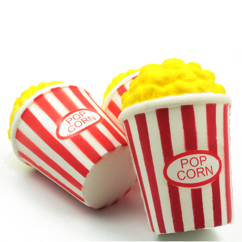 Huge 12CM Pop Corn Squishy Popcorn Shape Slow Rebound PU Wipes Anti-stress Squishi Slow Rising Stress Reliever Simulation Toys