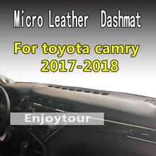 ФОТО for toyota camry 2017 2018 2019 generation 8th micro leather dashmat dashboard cover prevent sunlight pads dash mat lhd+rhd