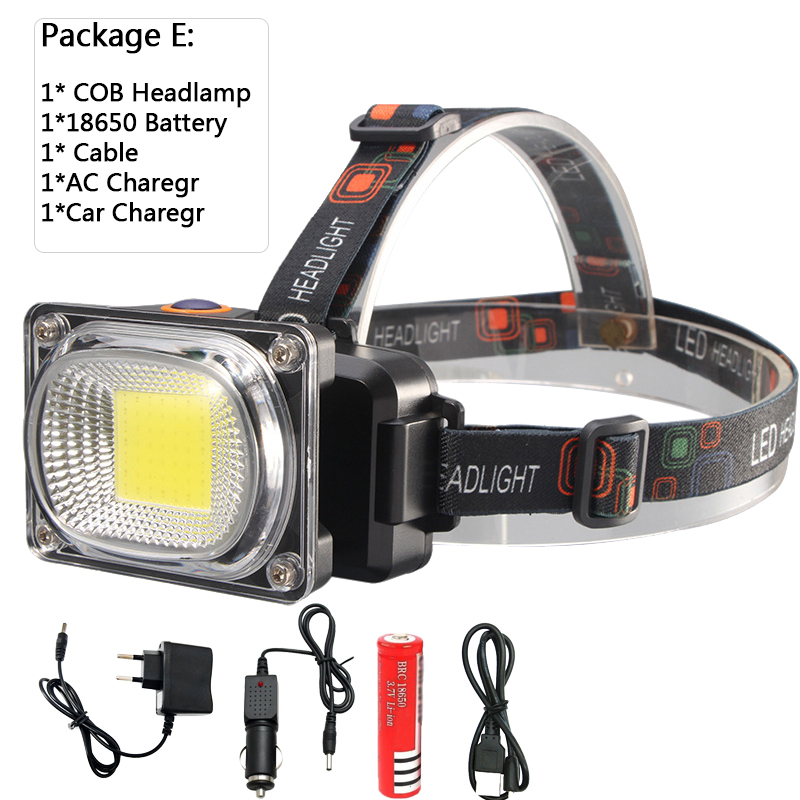 Rechargeable 5 Modes Infrared Sensor Head Cap 60000LM Light USB Headlamp Torch