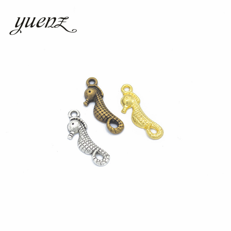 Yuenz 30 Stücke 4 Farbe Antike Splitter Tier Seepferdchen Charme Fit Für Armbänder Halskette Diy Metall Schmuck 23*8mm D729 ZuverläSsige Leistung Schmuck & Zubehör