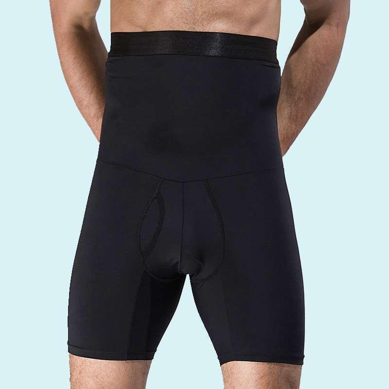 Men High Waist Tummy Trimmer Shorts