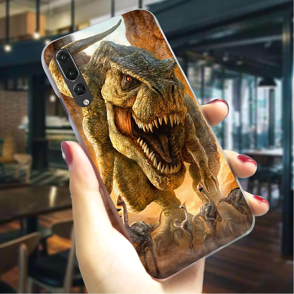 Dinosaur Hard Cover for Huawei P8 Lite 2017 Pattern Phone Case P9 2016 P10 P20 Pro Back Skin
