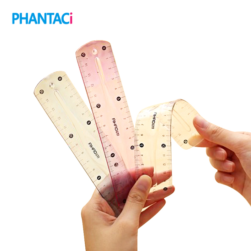 New Brand Double Scale Infinite Bending Rulers Soft 15cm Ruler for Student School Stationery Supplies