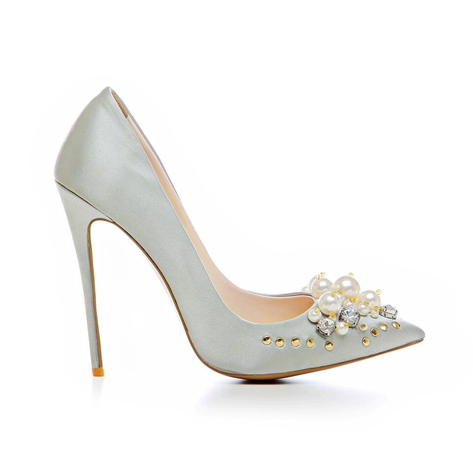 Tacón Zapatos Cm 12 Y La Verano Mujeres plata Alto De Primavera Mujer Moda Bombas 2019 Bien Baja Las Sexy Decorado champagne Muy Boca Negro zwvaF7twn