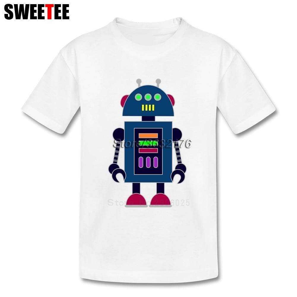 Children Toddler Pure Cotton Robot Baby Boy Girl 2018 T-shirt Round Neck Kid Tee-shirt T Shirt Infant Tshirt