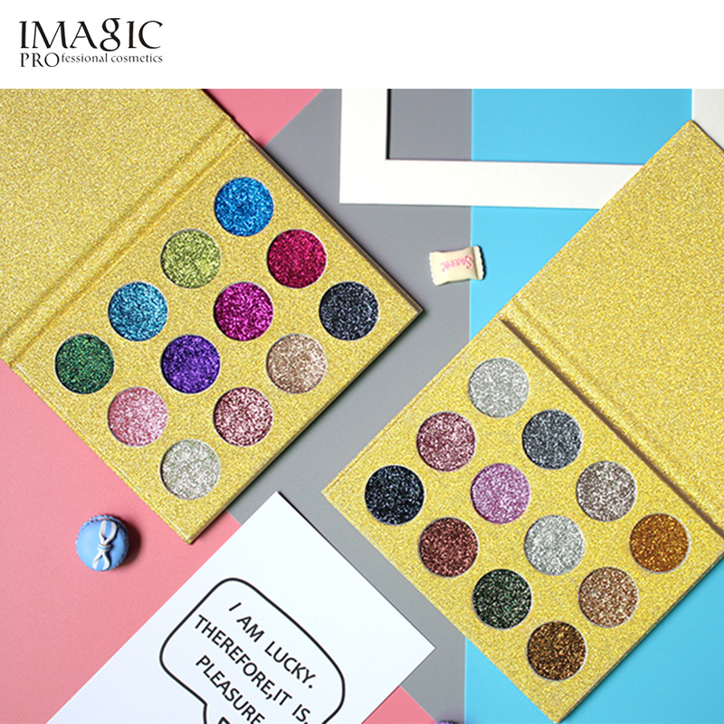 IMAGIC Glitters Fard de Ochi 12 Colour Single Eye Shadow Presiune Flash Palette Diamond Cosmetic Eye Shadow Magnet Palette + Combinat