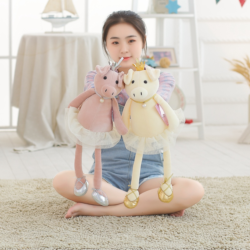 Fast Deliver Ggs 50/80/100cm 2 Patterns Plush Stuffed Toys Cute Pig Dolls Ballerina Dressing Pig Exquisite Birthday Gift 1806495001