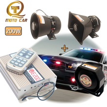 цена на Wireless Remote Control Vehicle Horn Alarm Emergency Speaker Police Siren Warning Tone Auto Loudspeaker 200W for Car Train Truck