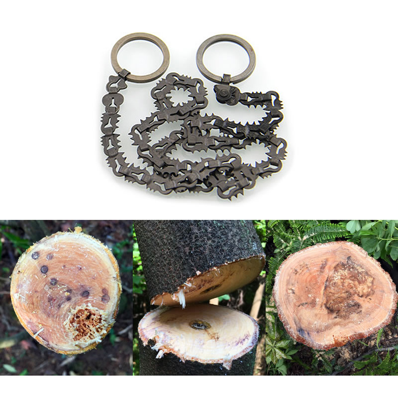 Outdoor Camping Hiking Manual Hand Steel Rope Chain Saw Portable Practical Emergency Survival Gear Steel Wire Kits Travel Tools 1 5mm 10pcs lot outdoor tool accessory camping edc gear multifunctional wire rope key ring