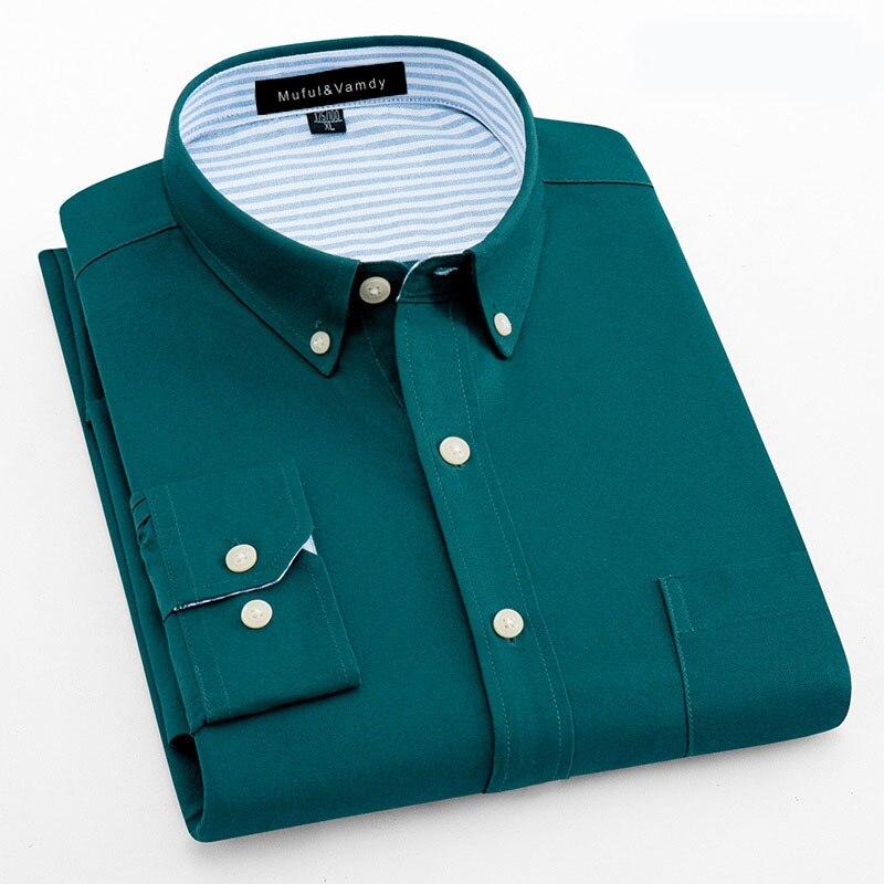 100% Baumwolle Hohe Qualität Männer Oxford Kleid Shirts Lange Sleeve Social Business Taste-unten Kragen Patchwork Smart Casual Hemd MöChten Sie Einheimische Chinesische Produkte Kaufen?