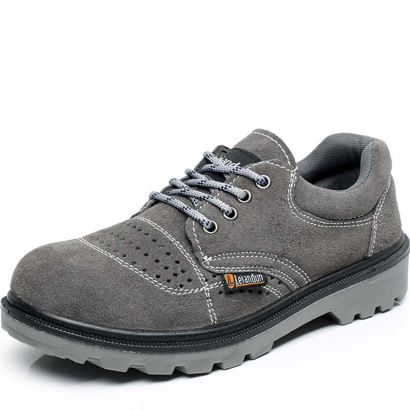 large size mens casual breathable steel toe covers work safety summer shoes soft cow suede leather tooling low boots protective plus size men breathable dress shoe steel toe caps work safety summer shoes womens plate sole outdoors tooling low boots leather