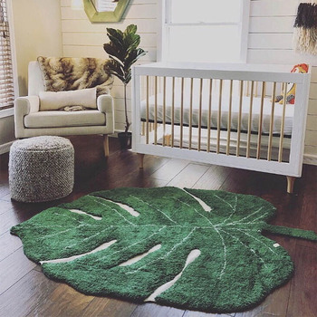 1.5M Nordic Baby Carpet Cotton Baby Leaf Play Mat Activity Game Playmat Rug Decoration Children Room Mat Kids Toy Blanket Carpet