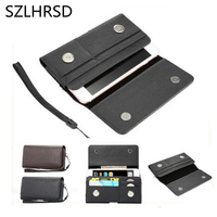 SZLHRSD Men Belt Clip Leather Pouch Waist Bag Phone Cover For Blackview P6 Doogee Mix 2