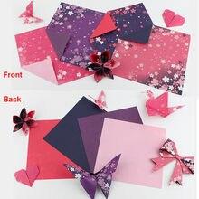 60 sztuk kolorowe papier Origami 15x15 cm dwustronnie składane papiery Sakura dzieci Handmade DIY Scrapbooking, rzemiosło Toy