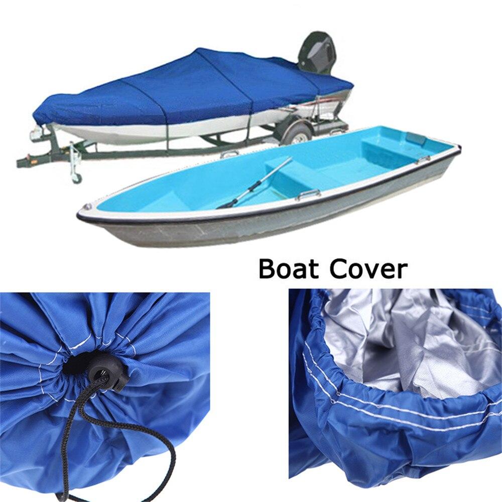 Hot vente bateau couverture bateau de pêche 210D hors-bord pêche v-coque 17-19ft résistant au soleil imperméable à l'eau UV protégé tissu UV neige protégée - 2