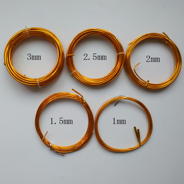5 Roll Different Size Aluminium Bonsai Wire