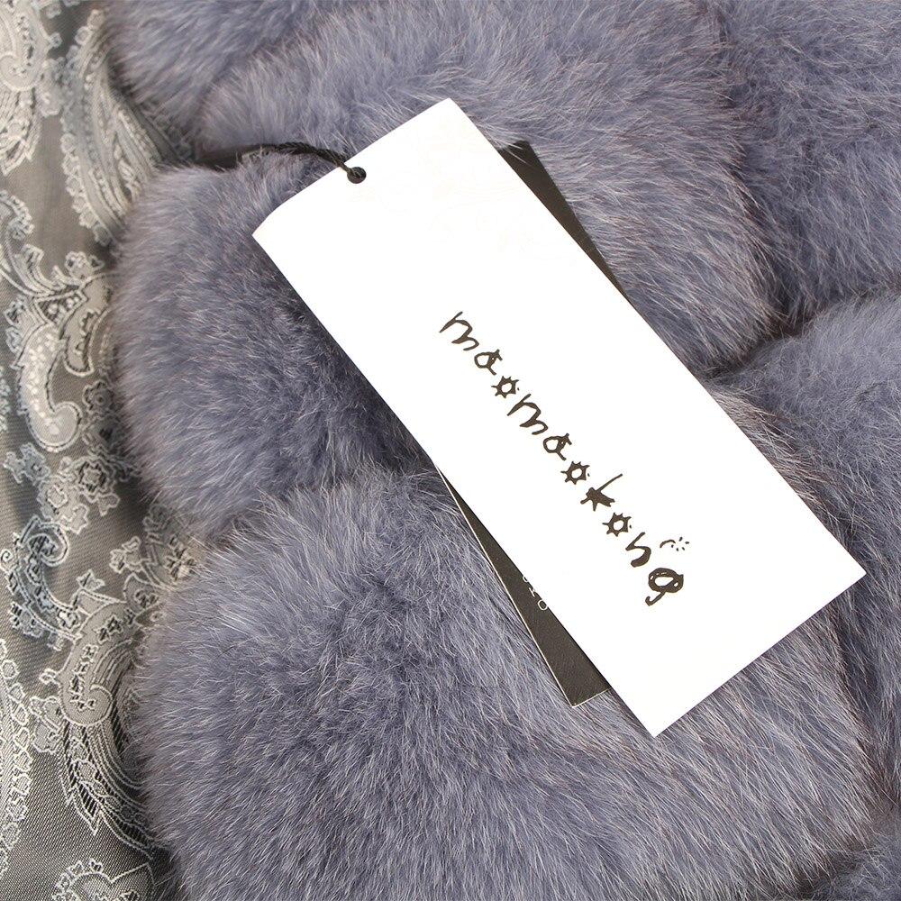 Image 5 - maomaokong 100% Fox Fur Vest Women Real Natural Whole Fox Fur Coat 90CM Long Winter Fur Jacket Waistcoat Plus Size 4XLReal Fur   -