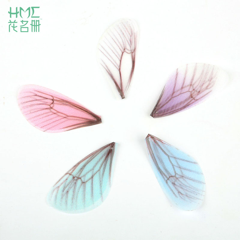 Best Sale 8cm 1pcs/bag 5colors Tulle Translucent Cloth Butterfly Wings Diy Earring Material Accessories Ladies Ear Clip