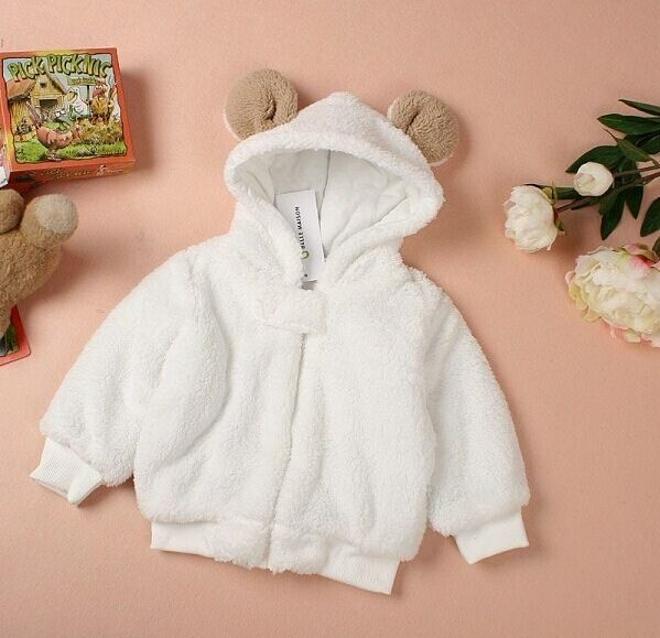 Nueva Moda de Invierno Bebé Recién Nacido Ropa de Bebé de la Capa Caliente Con Capucha Bebé Chaqueta Del Muchacho Sólido Lindo Bebé ropa de Abrigo