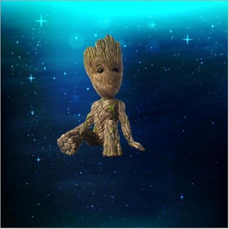 2018 Tree Man Grootted hands up Phoneholder Action Figure Guardians of The Galaxy 2 Model pen pot and flower pot Toy